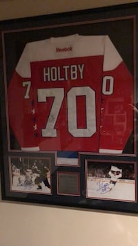 Autographed Capitals Braden Holtby Jersey. Framed with 2 8x10's that are autographed. JSA certified authentic. Will trade for aquarium   Springfield, 22152
