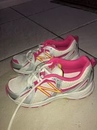 Pair of gray-and-pink New Balance running shoes Henderson, 89074