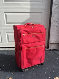 red and black luggage bag Agoura Hills, 91301