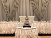 Head table linen skirting available in white, silver and oyster  Vaughan, L4L 8E5
