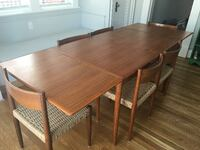 Mid Century Modern Dining Table and 6 chairs SILVERSPRING