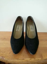 Black  suede  pumps purchase  from  Bloomingdale.  Washington, 20017