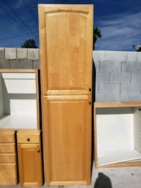 brown wooden cabinet with shelf Las Vegas, 89107