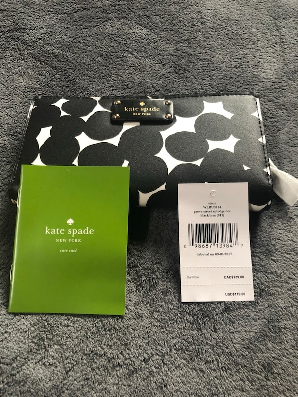 100% authentic Kate Spade and your clutch wallet