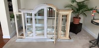 Huge, very solid and heavy hutch. Started to refinish and just can't find the time. Bottom piece has first coat of primer and top piece has been started. Last picture is what it started as. Metal decorative door covers have been thrown away and one door i La Plata, 20646