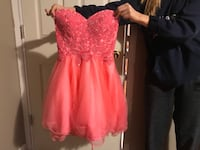 Coral pink strapless dress Lincoln, L0R