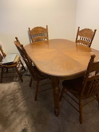 Dining room table free with chairs