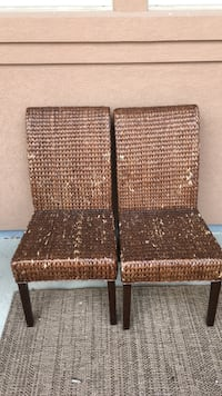 two brown wicker padded chairs Windsor, 80550