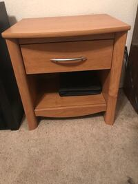 End tables , dresser, car cooler/heater queen bed box spring and frame Las Cruces, 88011