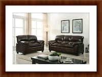 Burgundy sofa and love seat free delivery McLean