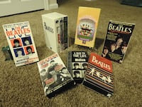 9 Beatles VHS  TAPES.