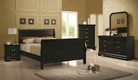BRAND NEW Black Queen Sleigh Bedroom Set!!! DELIVERY AND ASSEMBLY INCLUDED!!! Stone Mountain