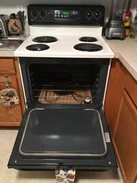 GE electric off white stove/range.  Works perfect! Canton, 48188