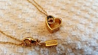 gold-colored heart pendant necklace Vaughan
