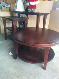 Round  wooden coffee table and..... Arlington Heights, 60005
