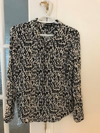 black and white leopard print long sleeve shirt Laval, H7R 6C6