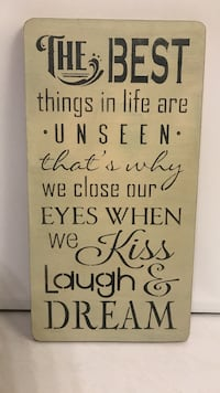 The Best things in life are unseen wall decor