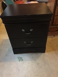 black wooden 2-drawer chest South Berwick, 03908
