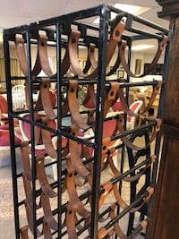 black and brown wooden rack 60081