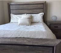 New Rustic Gray Queen Bed  Silver Spring