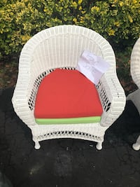 white and pink wicker armchair Bowie, 20715