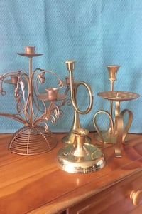 Five piece candle holders  Damascus, 20872