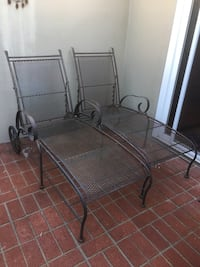 Two metal Chaise Lounge Chairs Patio furniture Newport Beach, 92663