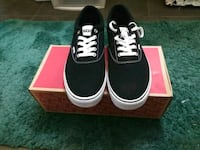 pair of black Vans low-top sneakers on box Inglewood, 90301