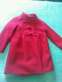 Girls Gap size 5 Years Red Coat