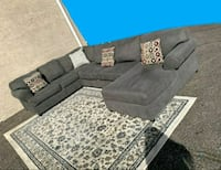 Gorgeous Charcoal Grey Sectional, Delivery Available Las Vegas