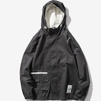 NIAZE BROXIE COMPLEX WINDBREAKER JACKET WITH HOODIE