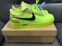 Offwhite airforce 1 lows size 10.5 reps