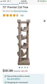 Cat tower great condition  Auburn, 98092