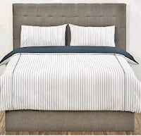 white and black bed sheet set King City, L7B 1A3
