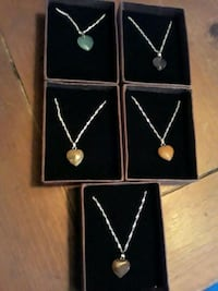 Heart shape necklaces 10$ each or 3 for 25