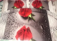 New Weeping Rose 3D Duvet Cover 3pc Set-Queen-Perfect Gift Idea  Toronto, M9W 3S2