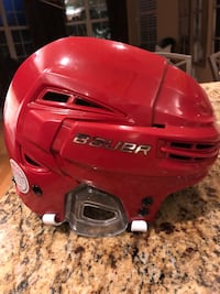 Bauer Re-Akt 100 used hockey helmet size small
