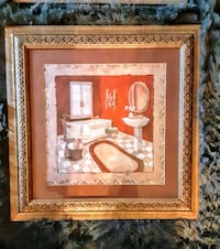2 piece Bathroom Wall Picture Set