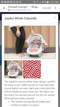 Carseat cover and canopy set