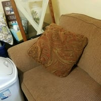 brown and white fabric sofa chair New Windsor, 12553