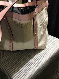 brown and black leather tote bag Barrie, L4N 5G8