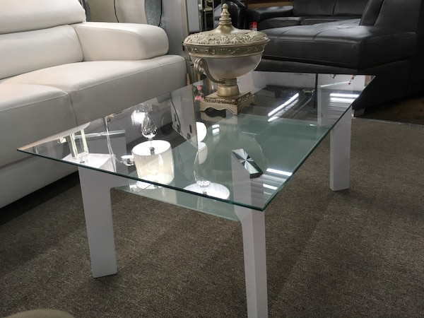 Coffee table, glass top 0