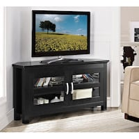 """Cordoba Black Entertainment Center TV Stands , Black, SKU# 40-656-2F2"" Tustin"