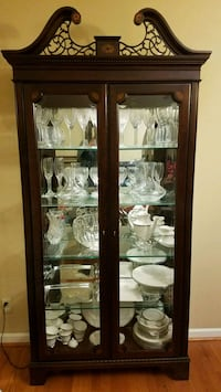 Lighted China Cabinet Woodstock