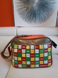 white, red, and green leather crossbody bag Toronto, M9M 0A3