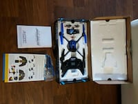 black and blue quadcopter with box Langley Township, V4W 3N9