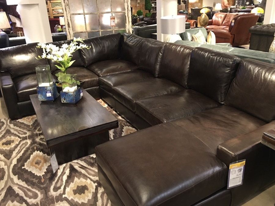Used black leather sectional sofa in las vegas for Sectional sofa las vegas