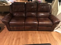 brown leather 3-seat sofa Potomac, 20854