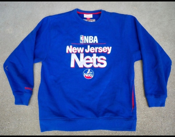 quality design 220de a8f39 New Jersey Nets Mitchell & Ness Basketball NBA Pull Over Sweater Size 40  Medium