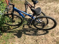 blue and black hardtail mountain bike Baton Rouge, 70809